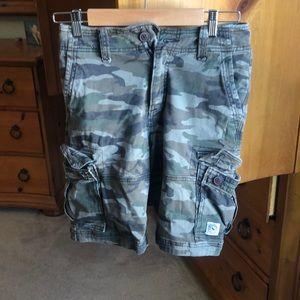 Boys camo cargo shorts